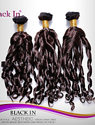 "3 Pcs Lot 12""-30"" Brazilian Spiral Curl Virgin Hair Wefts Dark Brown Human Hair Weaves Tangle Free"