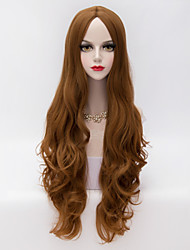 80cm Long Loose Wavy U Part Hair Fashion Party Wigs