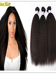3 Pcs/Lot 8A Brazilian Virgin Human Hair Extension Kinky Straight Hair Weft 3pcs Mix Length Free Shipping