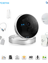 Snov 720P Wireless IR IP Camera Home & Business Cube IP Camera Alarm, with Tempreature & Humidity Sensor, APP