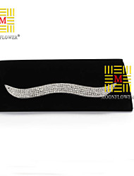 Women 's Polyester Fold over Clutch Tote/Clutch - Black