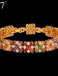 U7® Women's Zircon Bracelet New 18K Real Gold Plated Luxury AAA Colorful Cubic Zirconia Jewelry Geometric Bracelet