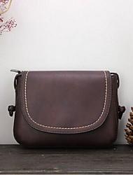 Women 's PU Sling Bag Shoulder Bag - Green/Brown/Black
