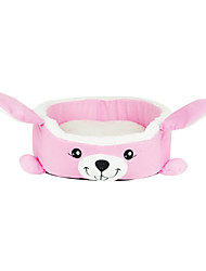 Pink Rabbit Fashion Style House Sofa Beds with Cushion for Small Pets Dogs Cats