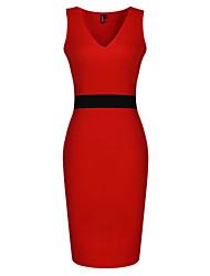 Vestidos ( Vermelho/Branco , Poliéster/Seda tecida com Cetim , Roupas de Balada ) - de Roupas de Balada - Mulheres