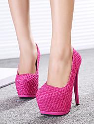 Calçados Femininos - Saltos - Saltos - Salto Agulha - Vermelho / Bege - Courino - Casual