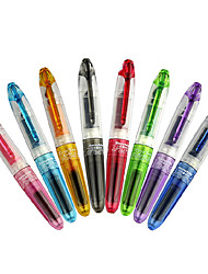 Cute Two 8 Colors Student Cartridge Fountain Pen Refill Marker for Kids