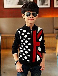 Boy's Cotton Medium Leisure Polyester/Cotton Knitting Cardigan