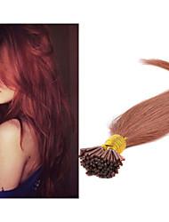 """18 """"-30"""" queratina brasileña inclino extensiones de cabello cabello lacio 1g / strand 100g / pack de extensiones de cabello natural humano"""