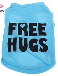 Gatto Cane T-shirt Abbigliamento per cani Cosplay Matrimonio Lettere & Numeri Blu