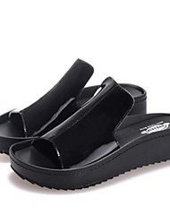 Women's Shoes  Flat Heel Peep Toe Sandals Casual Black/White