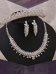 2015Jewelry Sets bride wedding dress accessories wedding tiara crown crystal diamond necklace earringBY-SET0001