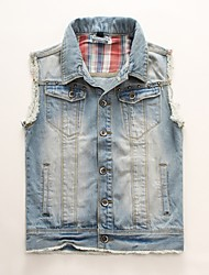 Men's Sleeveless Denim Vest