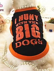 Gatto Cane T-shirt Abbigliamento per cani Cosplay Matrimonio Righe Lettere & Numeri Nero