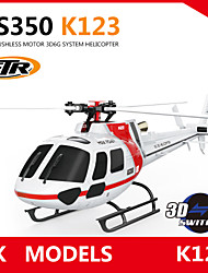 WLTOYS XK K123 6CH Brushless AS350 Scale 3D6G System RC Helicopter BNF