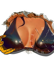 PAG®Modern Design 3D Effect Fashion Hot Girl Clock Sticker 18.26*14.96 in