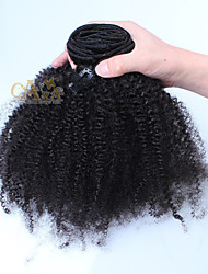 "Afro Kinky Curly Clip In Human Hair Extensions Mongolian Hair Clip In Hair Extensions 10""-26"""