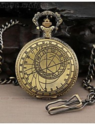 Men's Mathematical formula Pattern  Alloy Analog Quartz Pocket Watch Cool Watch Unique Watch