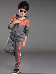 Boy's  Autumn Paragraph  Sports Clothing Set