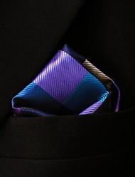 ih28 shlax&aile vérifié rose bleue mouchoirs des hommes de brun cravates hanky