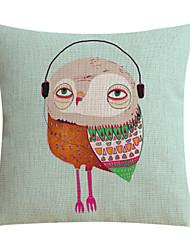 Music Bird Cotton/Linen Decorative Pillow Cover