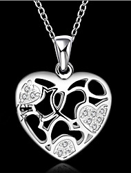 Party/Casual Silver Plated Pendant Necklace