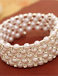Women's Strand Bracelet Imitation Pearl Imitation Pearl/Rhinestone