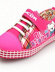 Sneakers a la Moda ( Rosa/Naranja ) - Punta Redonda - Tela