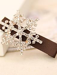 Korea Sweet Snowflake Rhinestone Hairpin