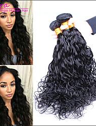 3pcs/lot 6A Brésilien cheveux humaines Vierge Water Wave Non transformée les extensions des cheveux noirs