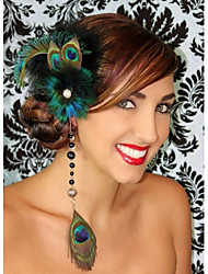Hand Made Wedding Feather Hair Clip Fascinator Headpieces Fascinators 010
