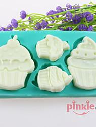 moldes de silicone bolo bolo de chocolate fondant, ferramentas de decoração bakeware