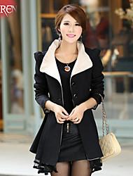 Muairen®Women'S Fashion Windbreaker Jacket Lapel Lace Collar
