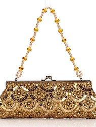 Women 's Polyester Fold over Clutch Evening Bag - Multi-color