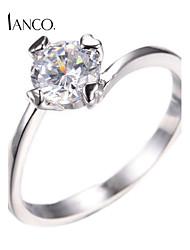 Rhinestone round rings fashion jewelry women's cubic zirconia charm ring