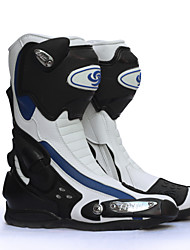 PRO-BIKER Motorcycle Riding Shoes Racing Mid-Calf Boots/ Outdoor/All Seasons / White/ Black/ Red/ Size40-45