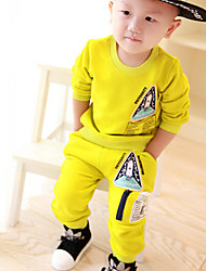 Girl's Labeling Hedging Wei Pants Zipper Sub Packages Clothing Set , Winter/Fall