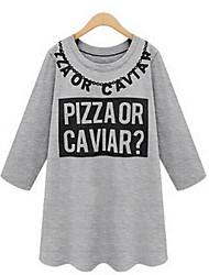 Women's Vinga Sexy Casual Work Long Sleeve T-shirt , Cotton