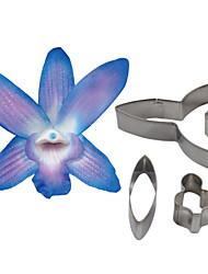 FOUR-C цветок орхидеи Dendrobium лепесток резак, торт украшения инструменты помадной формы резак печенья, аксессуары Инструменты