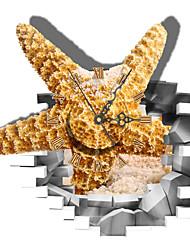PAG®Modern Design 3D Effect Starfish Pattern Clock Sticker 15.27*14.96 in