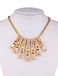 European and American fashion geometric bar set auger exaggerated necklace short tassel clavicle necklace # 0266