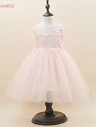 Flower Girl's Cotton/Mesh/Polyester Dress , Summer/Winter/Spring/Fall