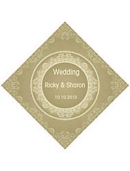 Personalized Wedding Tags Address Labels Envelope Sticker Brown Pattern Of Filmed Paper
