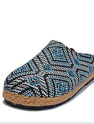 Zapatos de Hombre Mocasines Casual Tejido Azul / Marrón