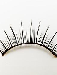 1 Ресницы Ресницы Ленточные накладные ресницы Глаза Машинное плетение Волокно Black Band 0.05mm 13mm
