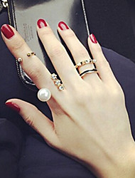 New Arrival Fashional Crystal Pearl Ring