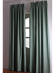 Two Panels Linen Cotton Solid Panel Curtains Drapes