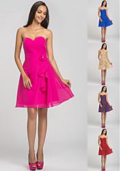 Heimkehr kurz / Mini-Chiffon Kleid Brautjungfer - fuchsia Übergrößen ein Online-Schatz