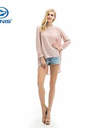 CANIS@Women's Chiffon Long Sleeves Blouse