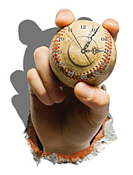 PAG®Modern Design 3D Effect Baseball Pattern Clock Sticker 14.96*21.57 in